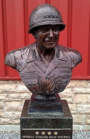 Richard G. Stilwell - A bust of Stilwell in June 2011