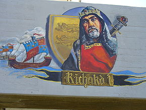 Richard I of England - Wall painting in Acre, Israel.jpg