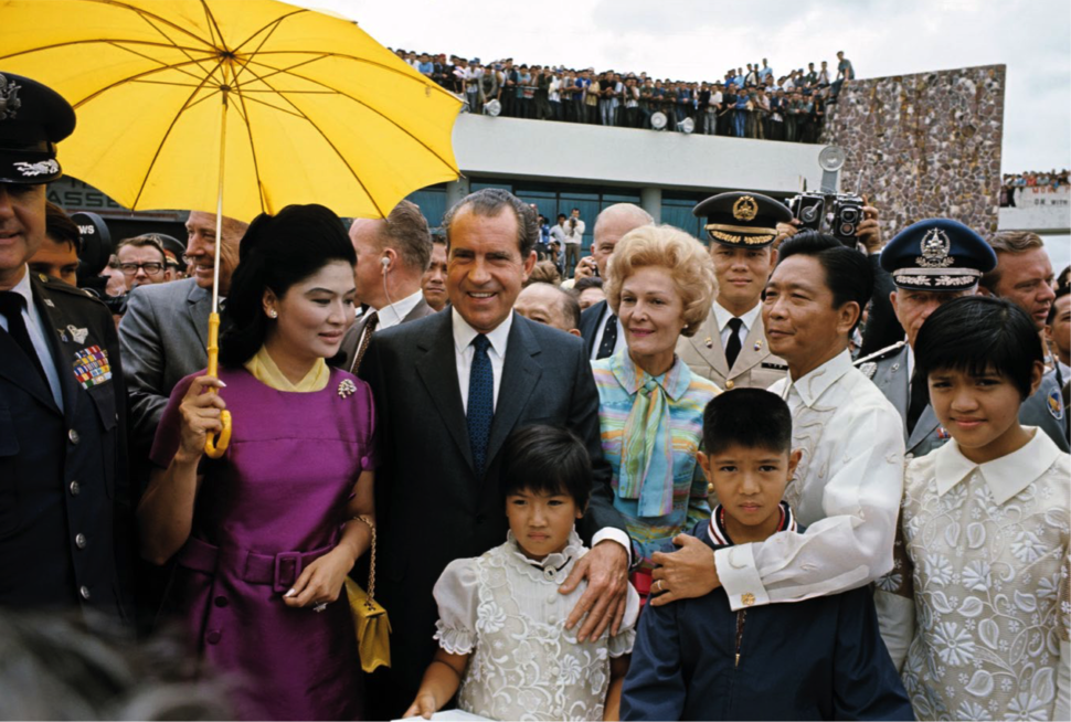 Richard Nixon with the Marcos family