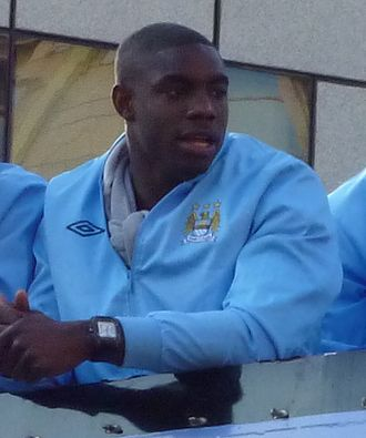 Micah Richards - Richards during Manchester City's Premier League victory parade in 2012
