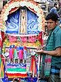Ricksha Driver and Vehicle - Dhaka - Bangladesh (12831375333).jpg