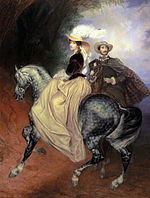 Riders. Portrait of E.I.Myussara and E.Myussar by Karl Briullov.jpg