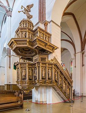 Riga Cathedral - Image: Riga Cathedral Pulpit, Riga, Latvia Diliff