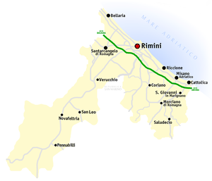 Province of Rimini - Map of the province
