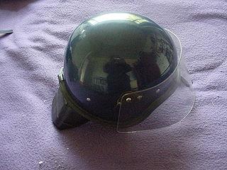 Riot protection helmet
