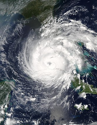 Hurricane Rita - Hurricane Rita as a Category 2 hurricane crossing the Florida Straits