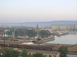 Tolyatti - River port on the Volga