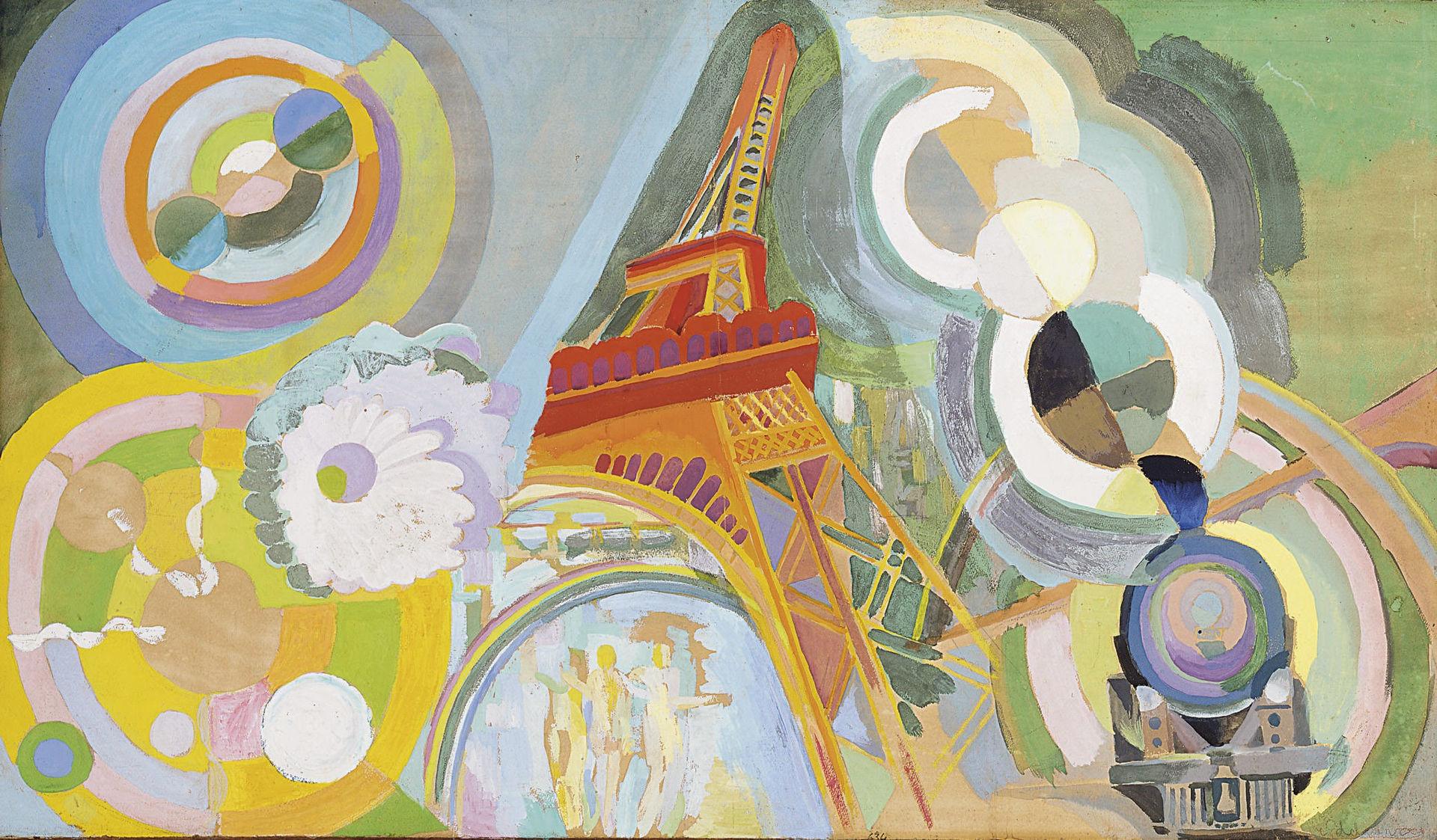1920px Robert Delaunay Air fer et eau C3 A9tude 1937 Robert DELAUNAY und Paris