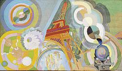 Robert Delaunay: Air, Iron and Water, Study