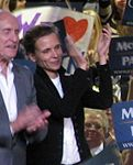 Robert Duvall and Luciana Pedraza campaign for McCain in Albuquerque.jpg