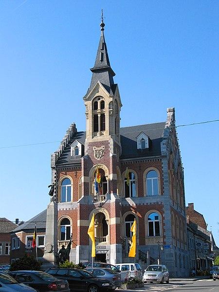 Rochefort (Belgium),  the town hall (1862).