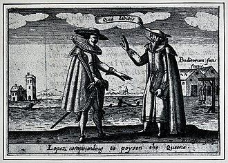 Roderigo Lopez - Image: Roderigo Lopez. Photograph after an engraving by E. Hulsius. Wellcome V0028737