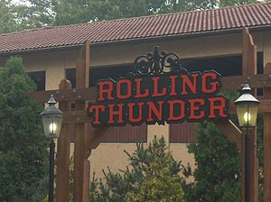 Rolling Thunder (roller coaster) - Image: Rollingthunderentran ce