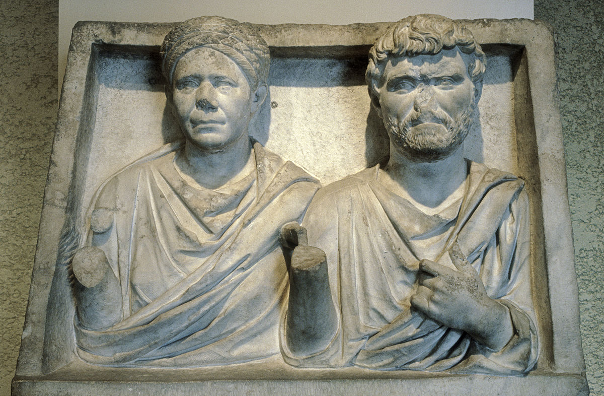 Roman - Funerary Monument of a Husband and Wife - Walters 2320.jpg