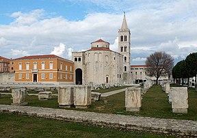 Roman forum zadar croatia