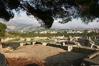 Salona ancient city on the Dalmatian coast