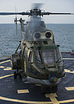 Romanian Navy IAR-330 medium helicopter conducts flight operations aboard USS Ross (2).jpg