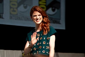 Leslie in 2013 for Game of Thrones Comic-Con panel