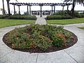 Round flower bed near Bridge of Lions.JPG