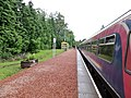 Roy Bridge railway station, Highland, Scotland. View west. Single platform.jpg