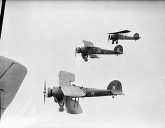 Fairey Swordfish - A formation of three Swordfish IIIs of No. 119 Squadron RAF over the North Sea, circa 1939–1945