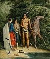 Rudolf Friedrich Kurz - Drei Indianer mit einem Pferd.jpg