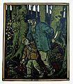 Rudolf Schiestl Räuber mit Kind im Wald.jpg