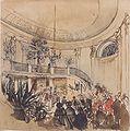Rudolf von Alt - Aufbahrung in einem Schloss - ca1850.jpeg
