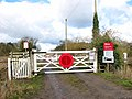 Rural level crossing in Roudham - geograph.org.uk - 1710417.jpg