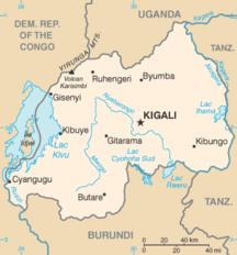 Ruanda-Suddivisione amministrativa-Rw-map