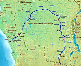 Rieka kongo na mape