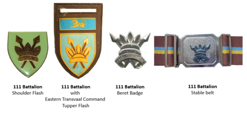 SADF 111 SA Battalion insignia