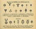 SCHLAG NACH! Universallexikon 1939 (German reference encyclopedia) 211 NSDAP (Nazi Party) (Reich leaders) Abzeichen SA NSKK SS HJ NSDS DF NSBO DF NSV NSKOV RLB (emblems) Ehrenzeichen (Honour badges) No known copyright hi-res.jpg