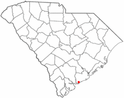 Location of Rockville in South Carolinia