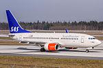 SE-REZ SAS Scandinavian Airlines Boeing 737-76N(WL) coming in from Stockholm (ESSA) @ Frankfurt (EDDF) - 08.04.2015 (16501034964).jpg
