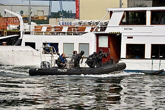 Special Deployment Commando - SEK operators raid a hijacked ship during a public exhibition.