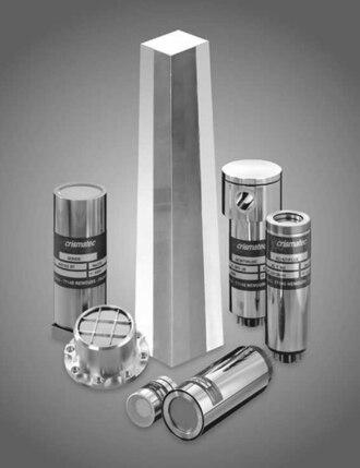 Scintillator - Scintillation crystal surrounded by various scintillation detector assemblies.