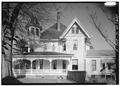 SOUTHWEST SIDE ELEVATION, LOOKING NORTHEAST - John Calvin Owings House, 787 West Main Street, Laurens, Laurens County, SC HABS SC,30-LAUR,2-5.tif