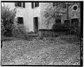 SOUTH CORNER, DETAIL OF PATIO BALUSTRADE - Mills-Stebbins House, 3 Crescent Hill, Springfield, Hampden County, MA HABS MASS,7-SPRIF,5-8.tif