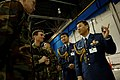 SRA Matthew St. John and MSG Donald Bishop speak with Lt Col Ichiro Sato and Col Koji Hirasuka about the F-22A Raptor.jpg