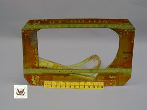 Southwest Airlines Flight 2294 - The interior of the damaged fuselage section