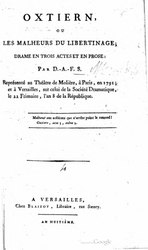 marquis de Sade: Oxtiern, ou les Malheurs du libertinage