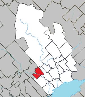Saint-Édouard-de-Maskinongé, Quebec - Image: Saint Édouard de Maskinongé Quebec location diagram