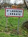 Saint-Laurent-l'Abbaye-FR-58-panneau d'agglomération-01.jpg