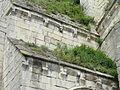 Saint-Vaast-lès-Mello (60), église Saint-Vaast, niche d'autel du croisillon sud, toit en appentis.JPG