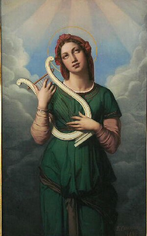 Joséphine Calamatta - Saint Cecilia, 1846, Musée Ingres de Montauban