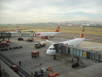 Salgado Filho International Airport - TAM Airlines and Gol Transportes Aéreos airliners at Salgado Filho.