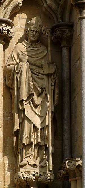 Statue of St Augustine of Hippo on the West Fr...