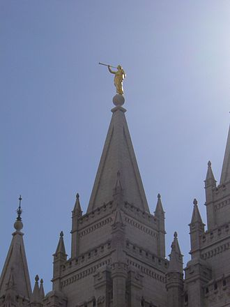 Cyrus Edwin Dallin - The Angel Moroni (1893), atop Salt Lake Temple, Salt Lake City, Utah.