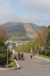 Samjiyon Municipal City in Ryanggang, North Korea